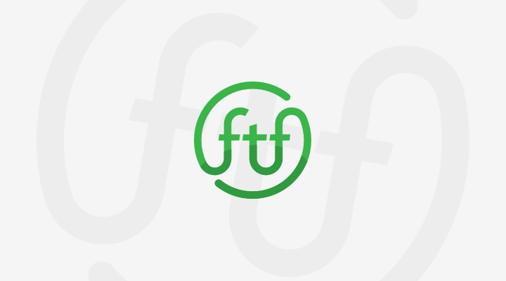 FTF logo with background swirl