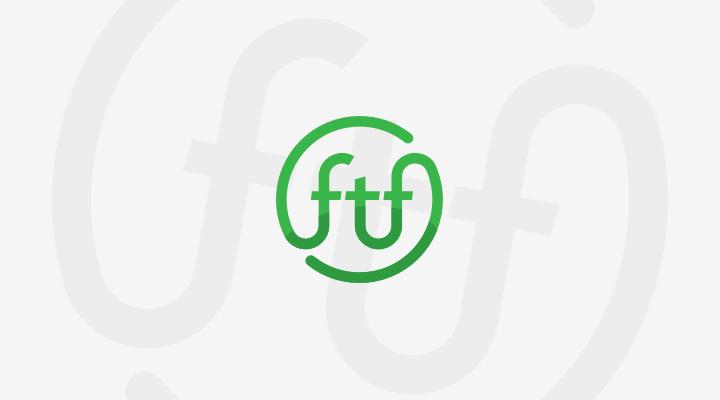 FTF logo with background swirl